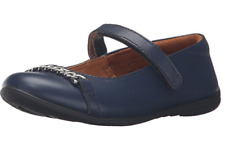 NEW UMI Kids' Elia II Mary Jane Flat Shoes Leather Navy Size EUR 33 (US 1.5)