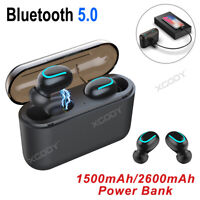 Wireless Headset Bluetooth 5.0 Stereo Earbuds Waterproof Headphones For Samsung
