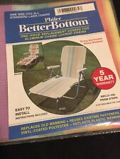 Vtg Phifer Better Bottom Prism Replacement Cover Aluminum Chaise Lounge Chair