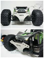 Axial YETI XL 90032 90038 Metal Steel Front Bumper Skid Plate Protector Silver