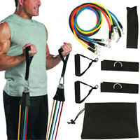11 Pcs Fitness Resistance Bands Set Pull Rope Set for Fitness Strength Training