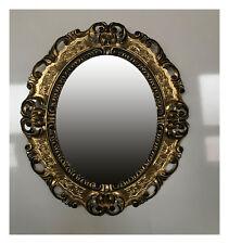 BAROQUE ANTIQUE CADRE D'IMAGE EN OR NOIR IMAGE PHOTO CADRE PHOTO OVALE 45X38 cm
