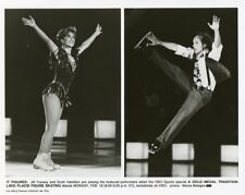 JILL TRENARY SCOTT HAMILTON LAKE PLACID FIGURE SKATING ORIGINAL '86 HBO TV PHOTO