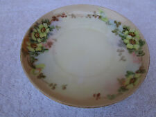 """rare vintage replacement Heinrich & Co Selb Bavaria 5 1/2"""" saucer yellow flower"""