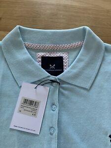 Ladies Crew Clothing Polo Size 16 Light Blue