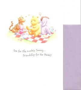 Classic Winnie The Pooh Get Well Tea For A Friend Theme Hallmark Greeting Card