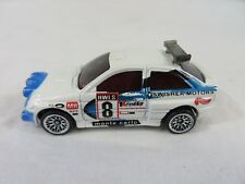 Hot Wheels Diecast Ford Escort Rally Swisher Motors White 1:64 Scale #6706