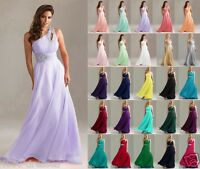 Stock Long Wedding Party Dress Evening Bridesmaid Ball Gown Prom Formal Dresses