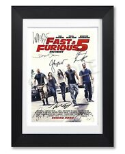 FAST & FURIOUS 5 MOVIE CAST SIGNED POSTER PHOTO PRINT AUTOGRAPH 2011 FILM