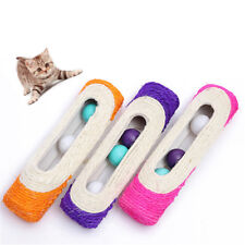 Pet Cat Kitten Kitty Toy Long Rolling Scratching Ball Scratch Post Trapped Tools