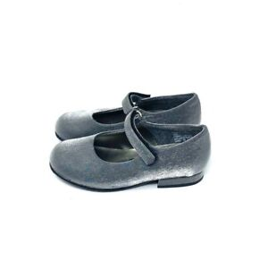 Rachel Silver Gray Fabric Formal Mary Janes Infant's Size 7