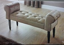 NEW CREAM/GOLD DIAMANTE BUTTONED CHAISE LOUNGE.STUNNING DESIGN.