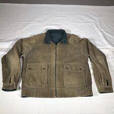 Vintage Izod Lacoste Brown Green Reversible Corduroy Jacket Coat Size M Medium