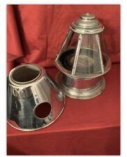 Binnacle & Compass, Perko Skylight 1930s-40s Nickel-over-Brass, Perkin's Marine
