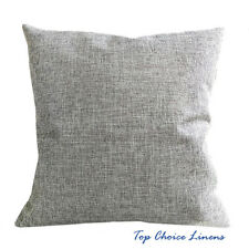45cm x 45cm Home Decorative Solid Color Linen Look Cushion Cover-Grey