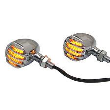 Prison Style Chrome Aluminium LED Indicators for Moto Guzzi California Project