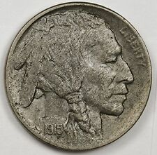1915-d Buffalo Nickel. Natural A.U. Huge Planchet Defect Reverse. 103203