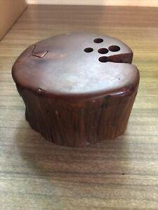 Vintage Cedar Wood Puzzle Box Treasure Box