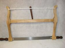 "NEW!Handcrafted 18"" Woodworkers Bow Saw Figured Maple/ Walnut Handles and Toggle"