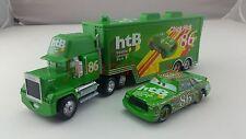 Disney Pixar Car No.86 Mack Racer's Truck & Chick Hicks Toy Car 1:55 Loose New
