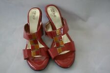 "Euro Soft by Sofft 9.5M Strappy Orange Patent Leather Womens 3"" Heel Shoes"