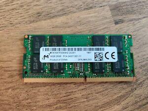 Micron 16GB DDR4 2400MHz PC4-19200 PC4-2400T Laptop SODIMM RAM Memory 260-pin
