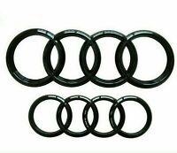 Audi Gloss Black Rings Front Rear Bonnet Badge Rings 285mm 202mm Q3 Q5 Q7 A6 RS6