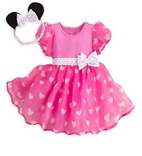 Disney Store pink Minnie Mouse Baby Costume & headband Ears 6 9 months NWT