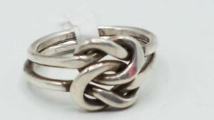 """925 Silver Ring Knot Design Sz 6 3/4"""" DY748"""