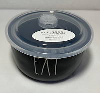 """RAE DUNN  """"EAT"""" Round (Black) Ceramic Bowl/Container With Vented Lid- Brand New!"""