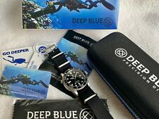 DEEP BLUE Diver Automatic 1000FT 300M Stainless Steel box & paper Swiss Watch