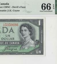 1954 BANK OF CANADA QEII $1 **DEVILS FACE** (( PMG 66 EPQ ))