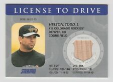 Todd Helton Rockies 2003 Topps Stadium Club License To Drive #LD-TH