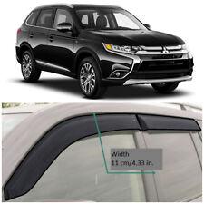 Wide Window Visors Side Guard Vent Deflectors For Mitsubishi Outlander 2012-2018