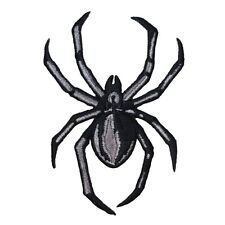 Black Spider Patch Arachnid Creepy Halloween Insect Bug Craft Iron-On Applique