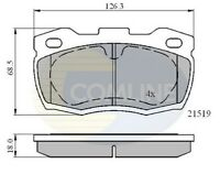 Comline Front Brake Pad Set CBP01052  - BRAND NEW - GENUINE - 5 YEAR WARRANTY