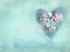 BEAUTIFUL CRAFT HEART CANVAS PICTURE #49 STUNNING VINTAGE SHABBY CHIC A1 CANVAS