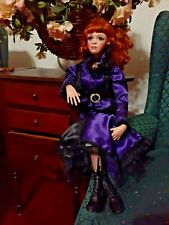 """Jan McLean Doll, 24"""",fully poseable, glass eyes,Leather shoes 1990s.Mint,No Box."""