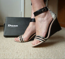 Dune,Black,Pink,white Wedge Ankle strap Shoes/Sandals,Special ocassion,PartyBNIB
