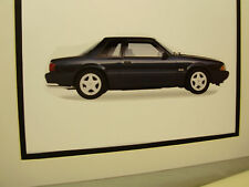 1992 Ford Mustang LX artist Auto Museum Full color Illustrated not photo