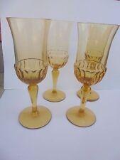 27665 4 Art Deco Weingläser Mundgebl empire 21cm amber  bernstein glasses