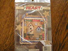 From the Heart Dimensions  COUNTRY BIRDHOUSE DUO Applique Wall Hanging Kit~~NIP
