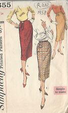 "1958 Vintage Sewing Pattern W24"" SKIRT (R282)"