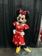 USED Minnie Mouse Character Red Dress Mascot Costume Cosplay Party Event Adult