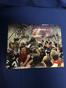 MIKE HOLMGREN GREEN BAY PACKERS GB SIGNED AUTOGRAPHED 8X10 PHOTO SUPER BOWL 2