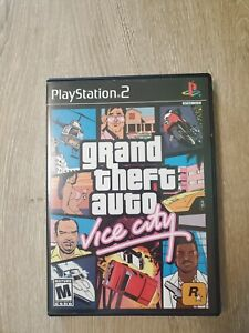 Grand Theft Auto Vice City Video Game PS2 Comes w/ Manual & Poster