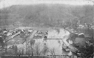 H88/ Mannington Houghton West Virginia Postcard c1910 Flood Disaster 12