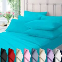 PILLOW COVER FLANNELETTE 100% COTTON BRUSHED COVERS PLAIN DYED BEDDING 50X75 CM