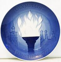 "B & G 1972 Olympic Games Munich – 1st Issue - 7"" Plate, Denmark"