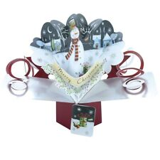Christmas Snowman Pop-Up Greeting Card Second Nature 3D Pop Up Cards